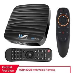 안드로이드 TV 박스 안드로이드 10 4 기가 바이트 32 기가 바이트 64 기가 바이트 4K H.265 미디어 플레이어 3D 비디오 넷플 릭스 2.4G 5GHz 와이파이 블루투스 스마트 TV 박스 셋톱 박스
