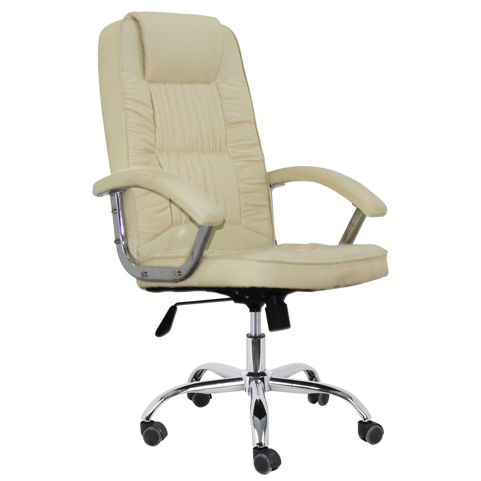 Office Armchair PAOLO, High, Gas, Tilt, Similpiel Beige