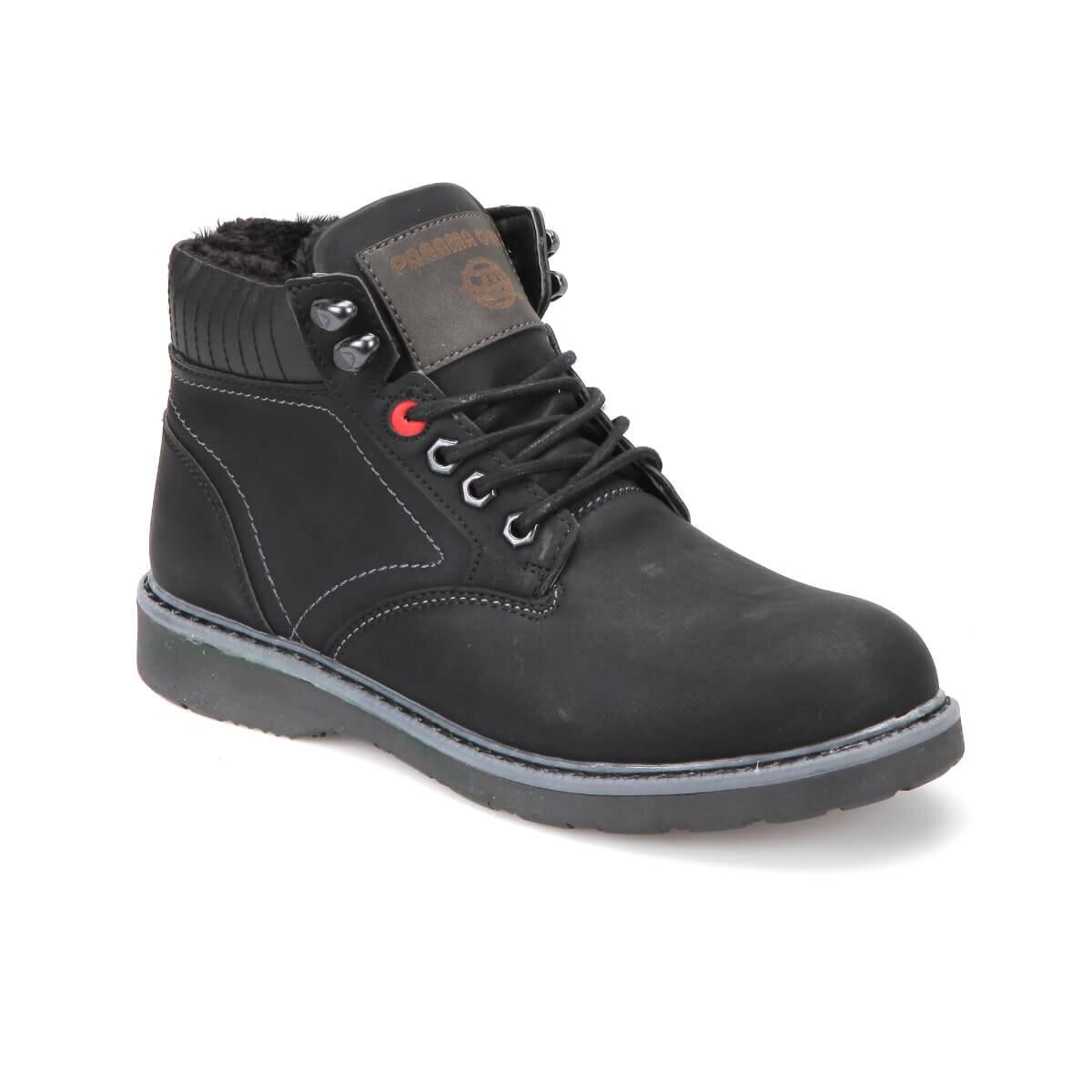 FLO DMS-172 Black Men Boots Panama Club