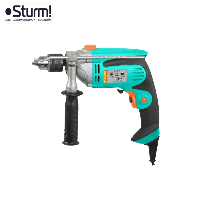 ID2176A percussion drill Sturm, 750 W, 0-2800 rpm, 0-42000 bpm Percussion drill Boring Hammer drilling in concrete and masonry id2195p hammer drill pros sturm 1000 w 0 2700 rpm 0 45900 bpm percussion drill boring hammer drilling in concrete