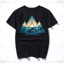 Природные пейзажи внутри треугольника мужские футболки размера