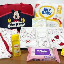 Red Mother of the Baby the Birth Preparation Hospital Bag Set