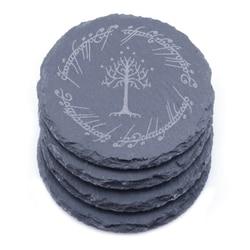 Lord of The Rings posavasos Badge Slate Coasters Engraved Gift Set BUY 3 GET 1 free
