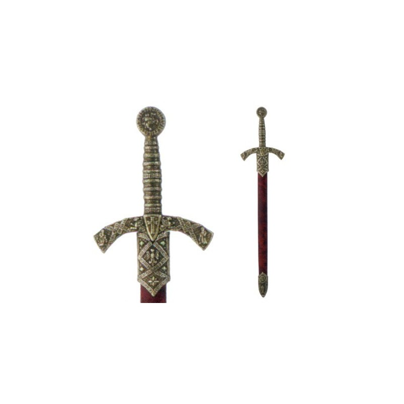 Letter Opener Knight Templar Sword With Scabbard (27cm)