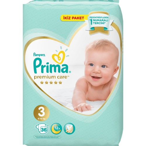 Mother, dry, comfortable, clean. Sanitary,. Breathe, high-quality baby diaper baby Pampers Premium Care diape 3 size 36 piece