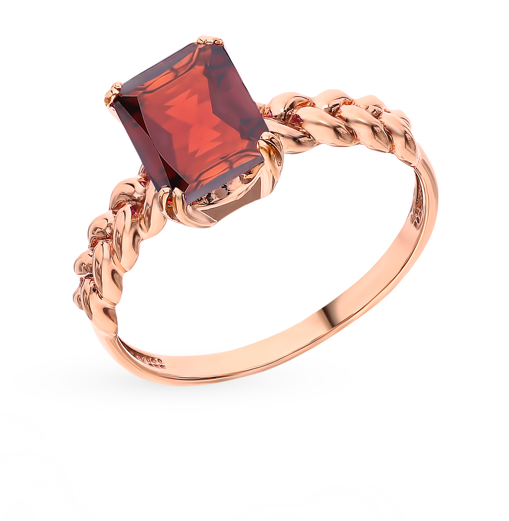 Gold Ring With Garnet SUNLIGHT Test 585