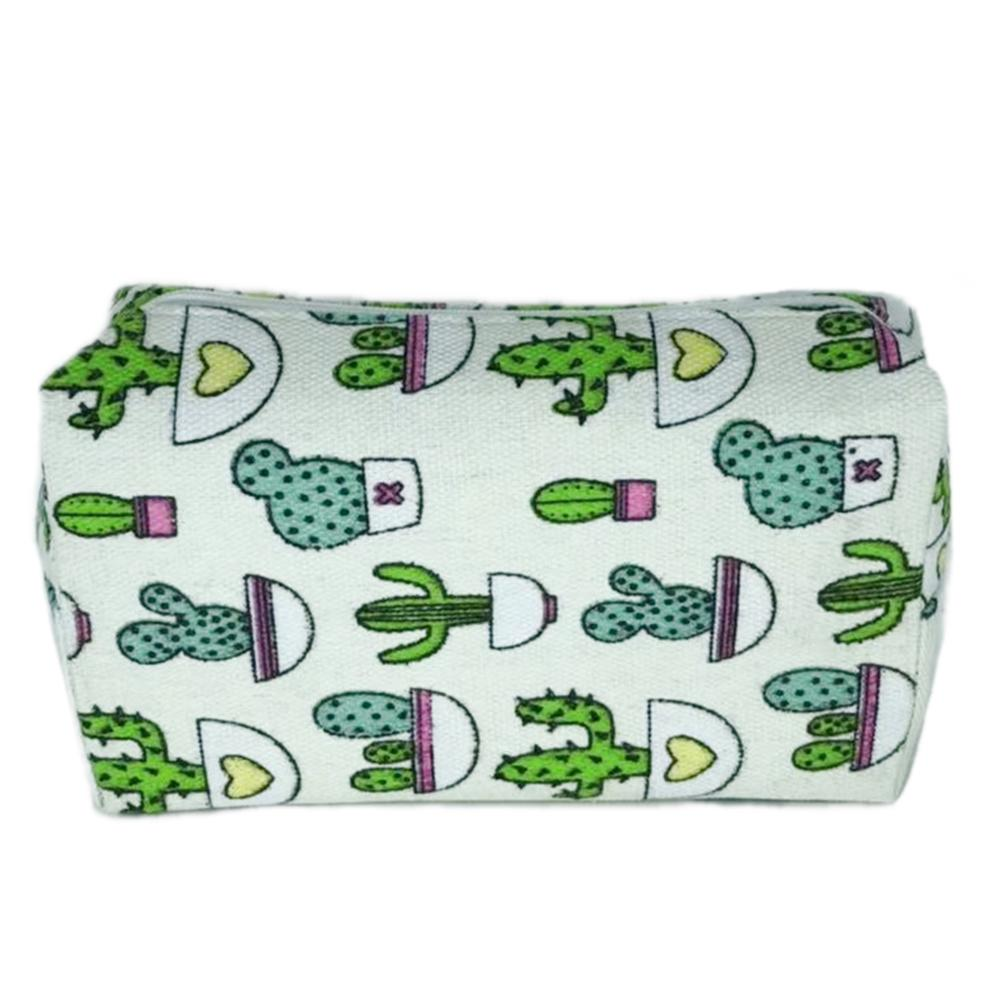 Cosmetic Makeup Case Bag Type. To Girl And Women. White Color. Print Undershirt Amusing. Portable, Ideal For Travel