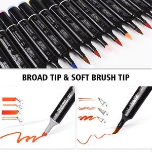 Image 2 - Touchnew סמן עט סט רך מברשת סמני כפולה טיפים 60/80 צבע אנימציה עבור חובבי אמנות מנגה ציור שרטוט אספקת אמנות