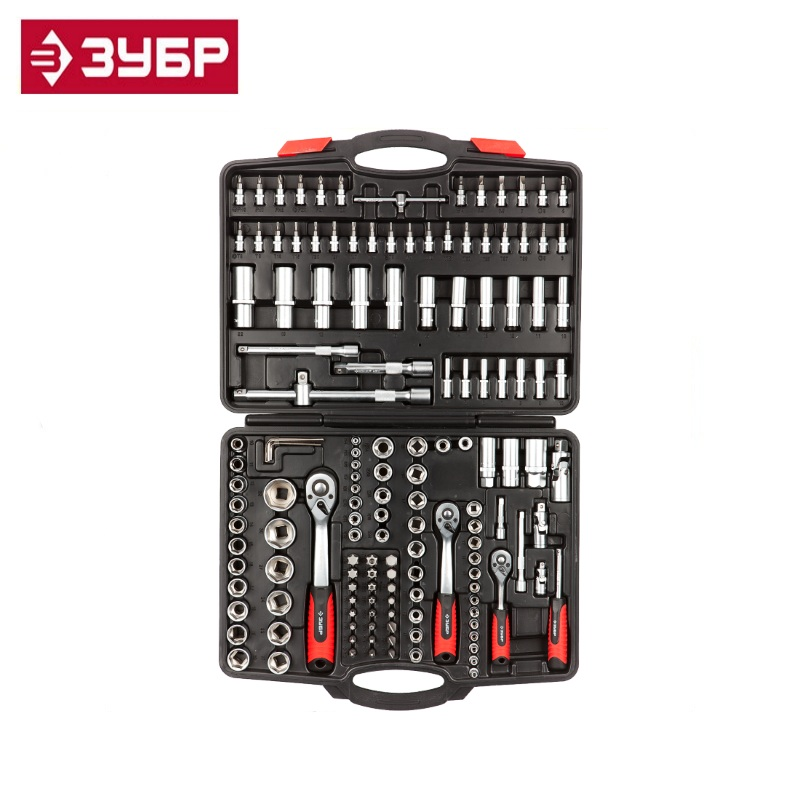 ZUBR Mx-150 universal tool kit 150 pcs. Accessories for drills, screwdrivers and wrenches