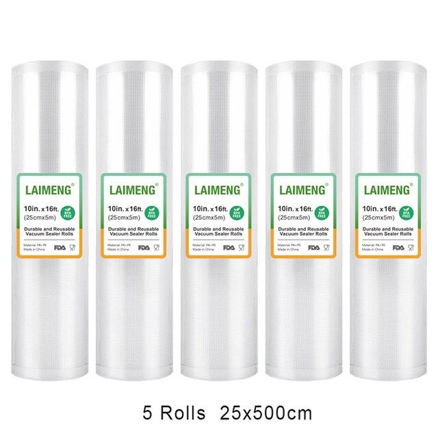 LAIMENG 5 Rolls Refill Bags For Vacuum Packing Sealer 17