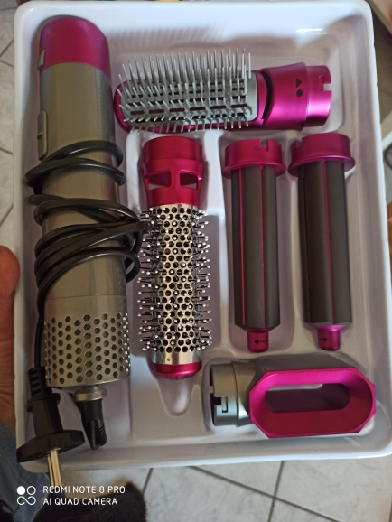 Electric Hair Dryer Blow Dryer Hair Curling Iron Rotating Brush Hairdryer Hairstyling Tools Professional 5 In 1 hot air brush|Hair Dryers|   - AliExpress
