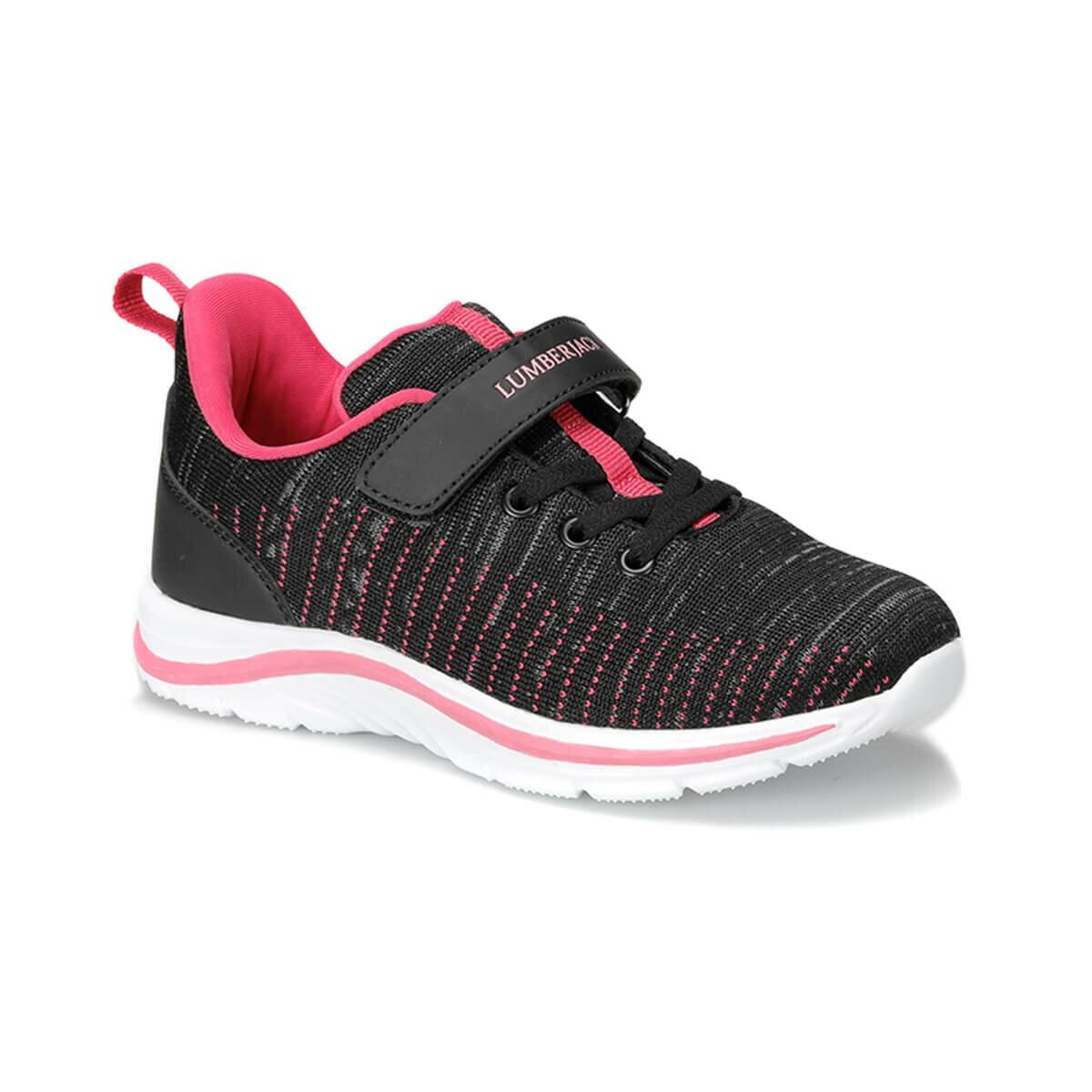 FLO GIRLS 9PR Black Female Child Running Shoe LUMBERJACK