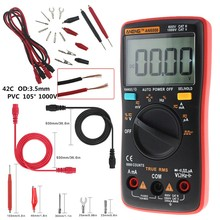 Auto Range Digital Multimeter Universal Multi Meter Plug 9999 Counts LCD Display Diode Mode Electronic Probe  Test Leads AN8008
