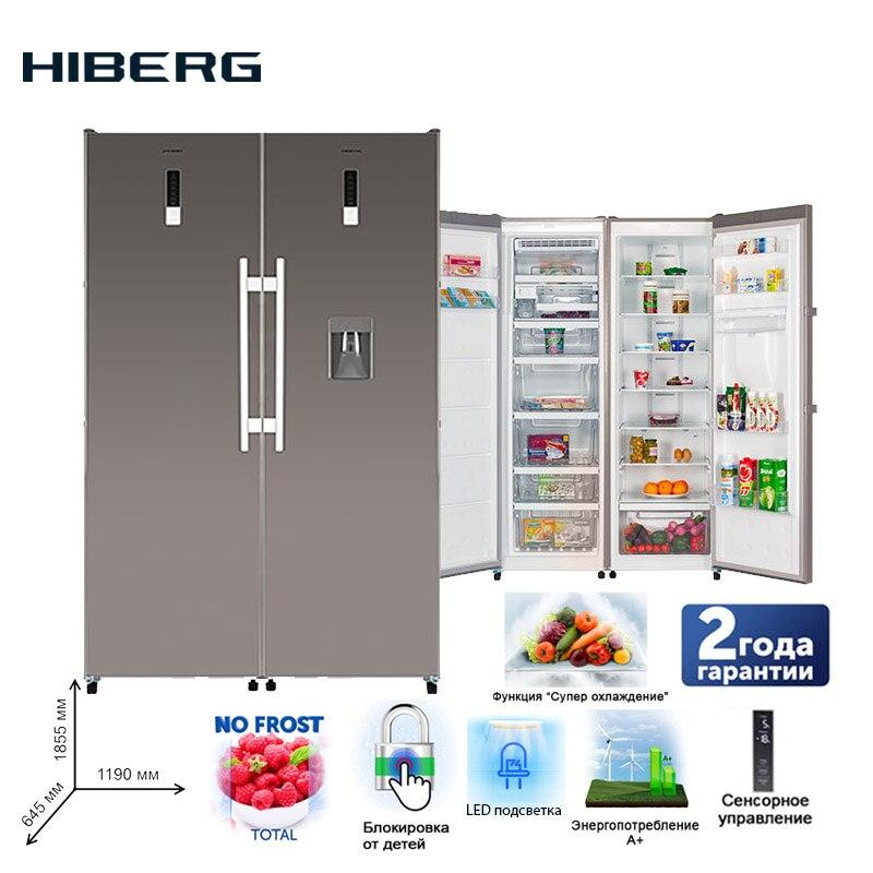Refrigerator Side-by-Side  HIBERG RF-35D NFX + FR-35LD NFXr Large Capacity Electric Refrigerator Power-saving Fridge For Home