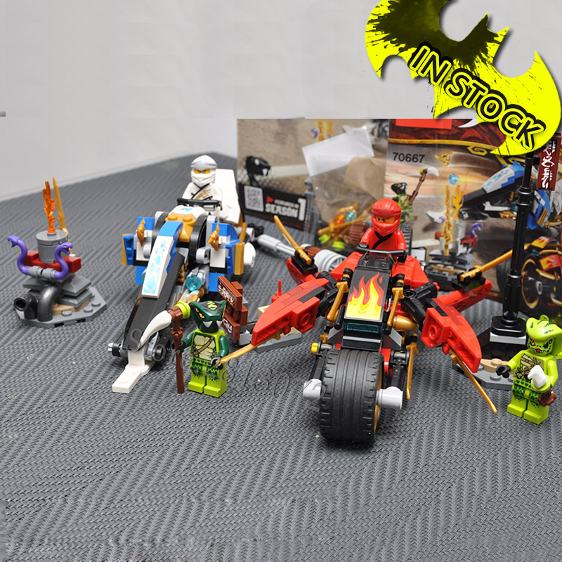 11161 Kai's Blade Cycle & Zane's Snowmobile In Stock 2019 Ninja 376Pcs Compatible With 70667 Building Blocks Bricks Toys