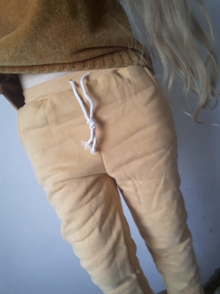 Winter Lambskin Thicker Elastic Waist Pants Loose Large Size Solid Color Cotton Harem Pants Women Casual Warm Trousers photo review