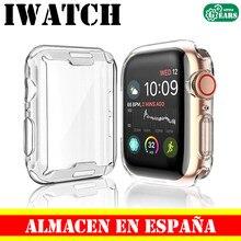 Чехол для Apple Watch 4 3 2 1 38 40 42 44 мм iWatch TPU iWatch Patalla Protector прозрачный силиконовый гелевый Чехол