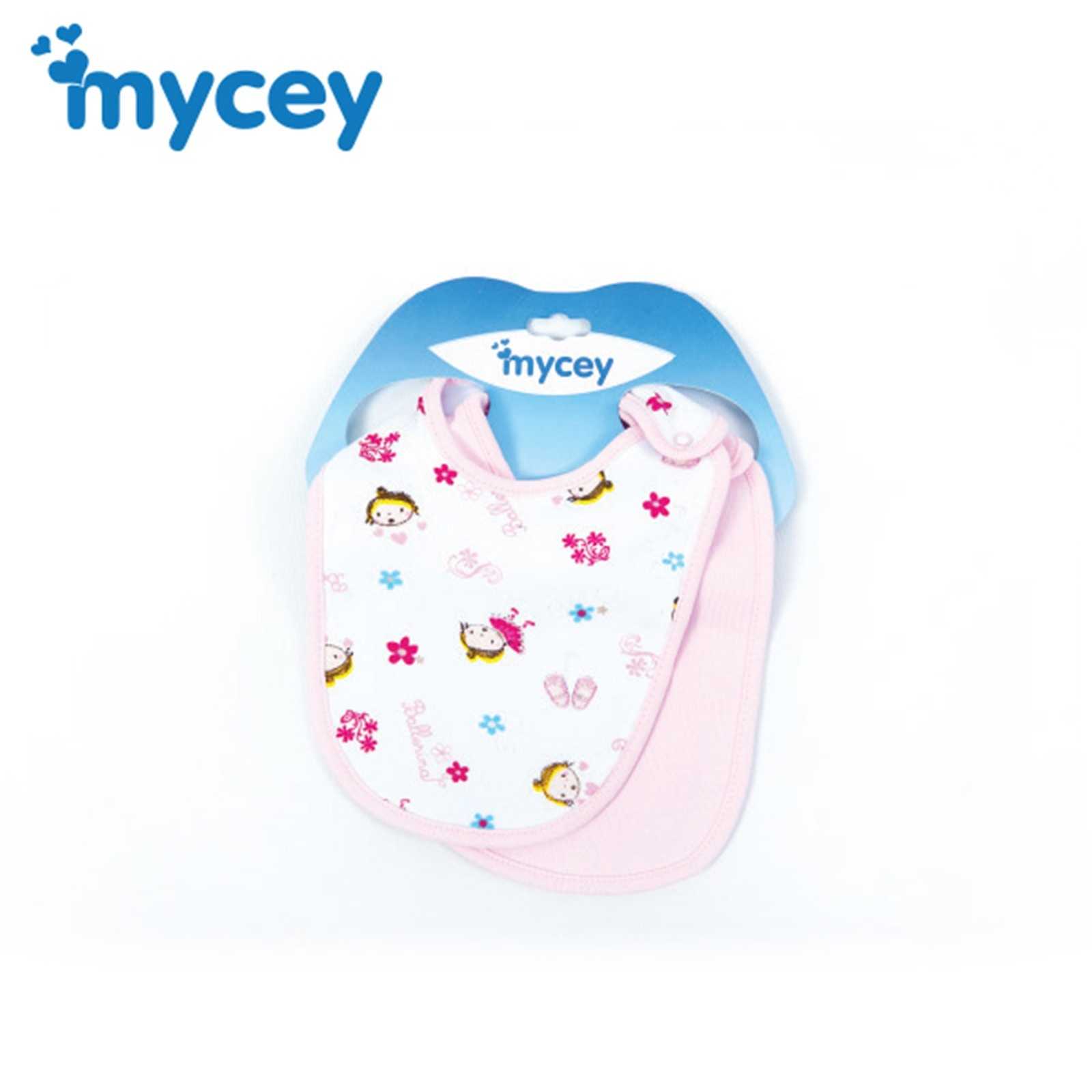 Ebebek Mycey Baby Cute Patterned Bib 2 Pcs