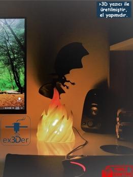 Decorative Flame Dragon Desktop Lamp 3