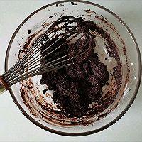 送你一朵小红花|巧克力戚风蛋糕的做法图解3