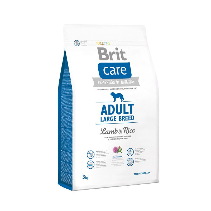 Food Brit care Adult Large Breed lamb & Rice adult dogs large rocks, lamb and rice, 3 kg. image