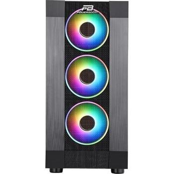 Power Boost VK-P3305B 500W USB 3.0 ATX Mesh Fixed Led Fan Black Computer case (JBST-VKP3305B) 2