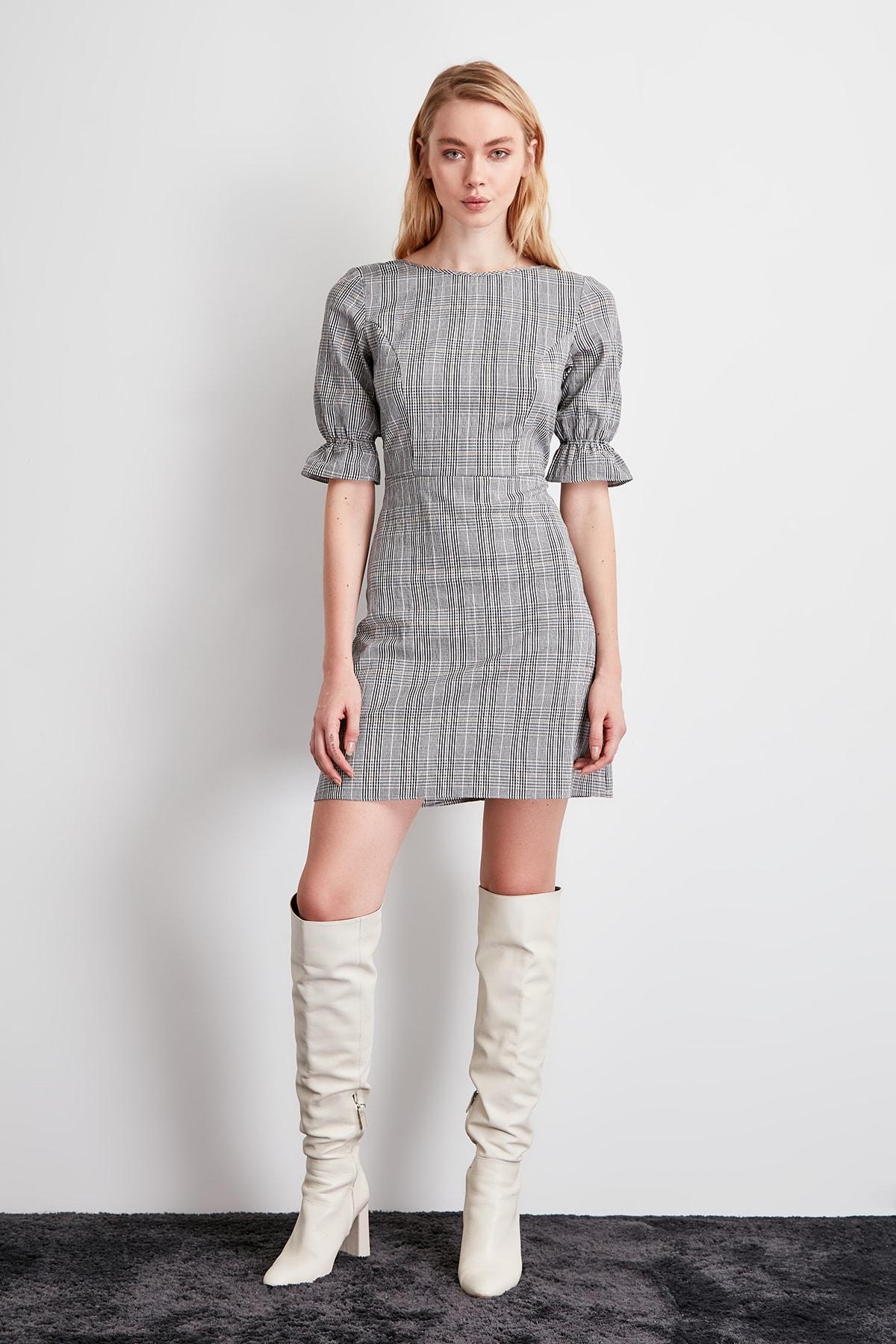 Trendyol Plaid Dress TWOSS20EL0907