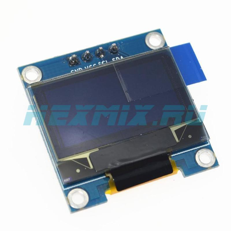 OLED I2C Display Screen Size 0.96 128x64