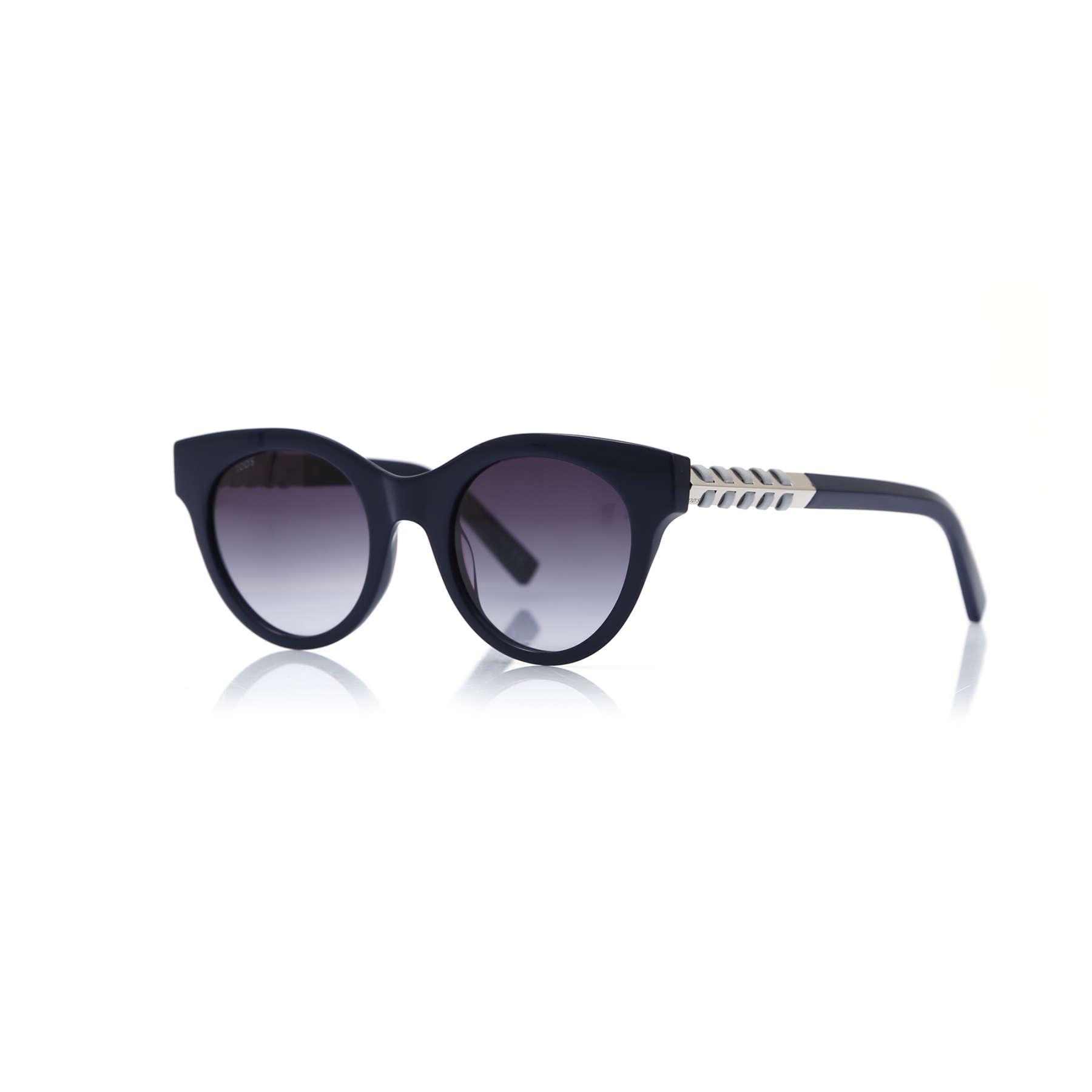 Women's sunglasses to 0201 90w bone navy blue organic oval aval 50-22-140 tods