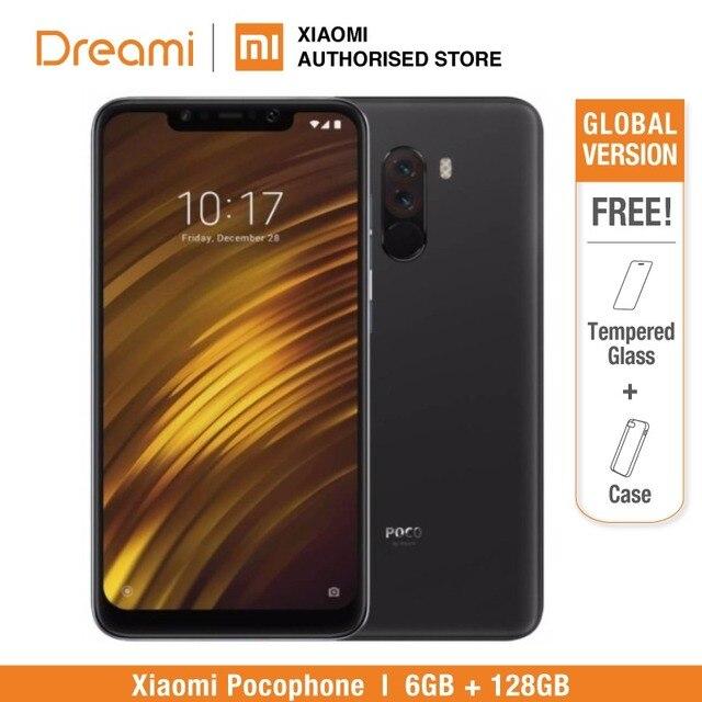 Глобальная версия Pocophone F1 128 GB rom 6 ГБ ram (абсолютно новая/запечатанная) Мобильный смартфон, телефон, смартфон