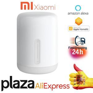 Xiaomi MiJia светодиодный прикроватный светильник 2 умный голосовой светильник сенсорный выключатель мой домашний Apple домашний комплект