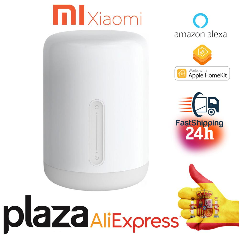 Xiaomi Mijia LED Bedside Lamp 2 Smart Light Voice Control Touch Switch Mi Home Apple Home Kit En Stock mundial versión Xiaomi Redmi Note 9 4GB 64GB Snapdragon 720G 48MP AI Quad Cámara Smartphone Nota 9 S 5020mAh
