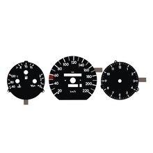 B H N de salpicadero EL, indicador de brillo, reloj grande, 220KM, W124, W126, W201, no económica, Panel negro, luz blanca inversa