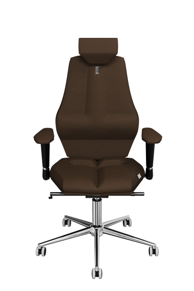 Office Chair KULIK SYSTEM Nano Chocolate Computer Chair Relief And Comfort For The Back 5 Zones Control Spine
