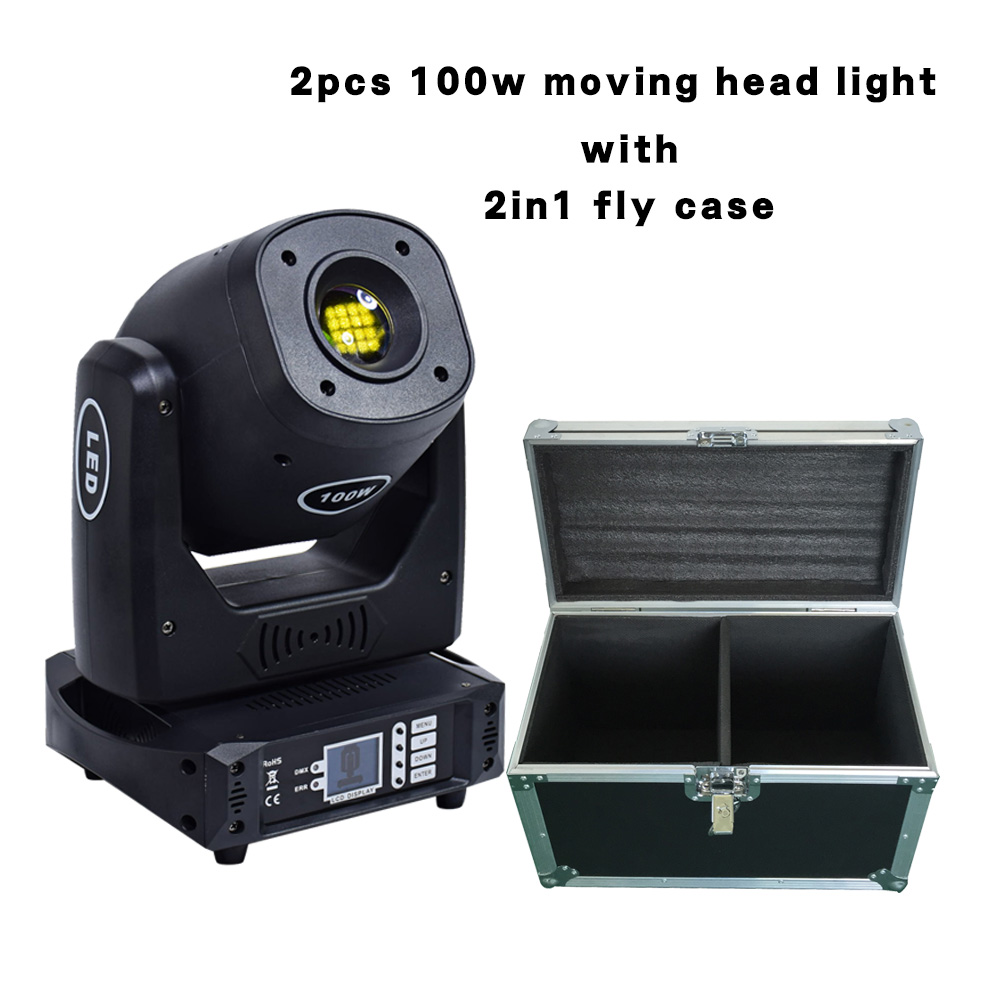 2in1fly Case With 100W Moving Head Stage Light Professional DJ Stage Party Disco Lights