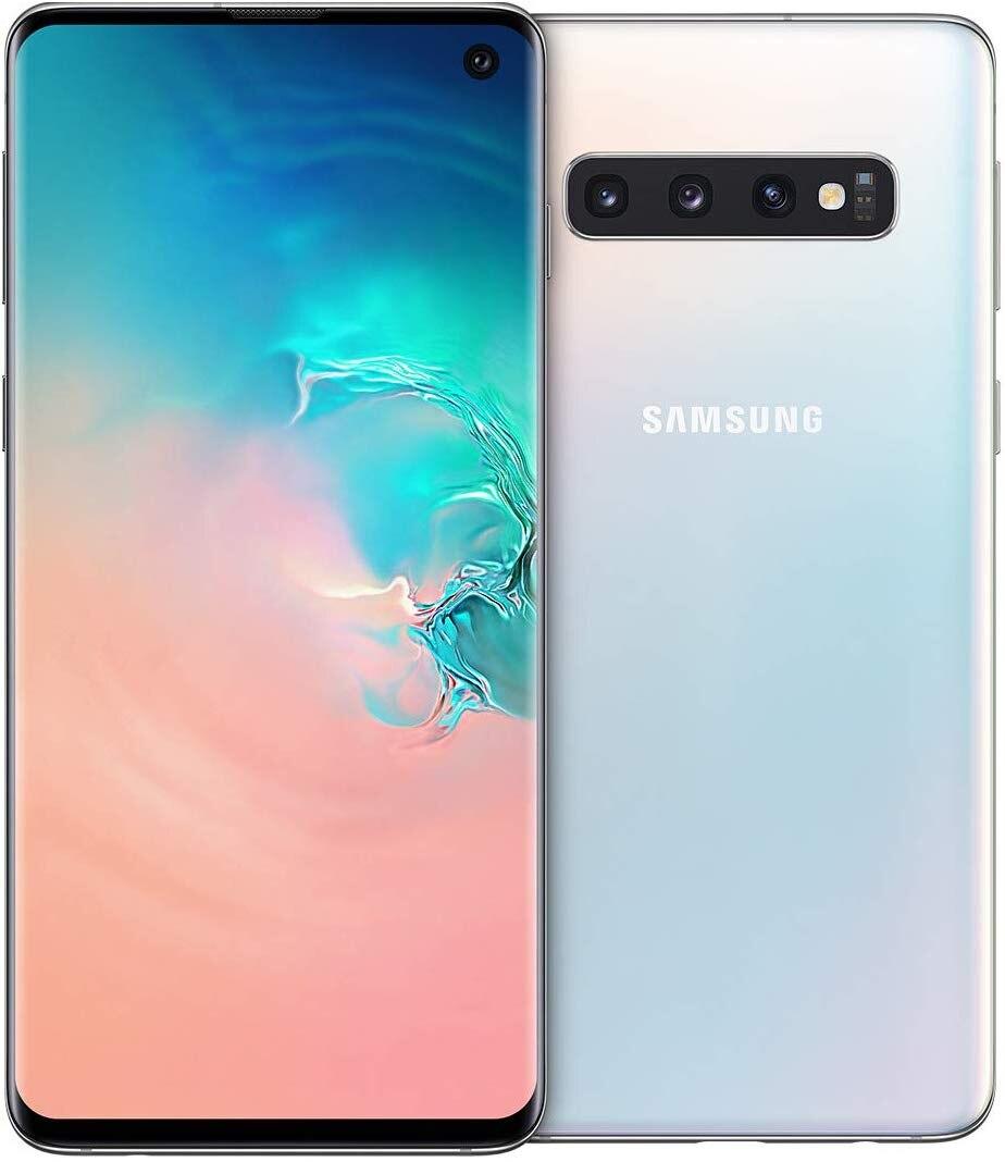 Phone Samsung Galaxy S10 (G973F), White Color (Prism White), 8 GB RAM, 128 GB Internal Memory, Dual SIM, Pant