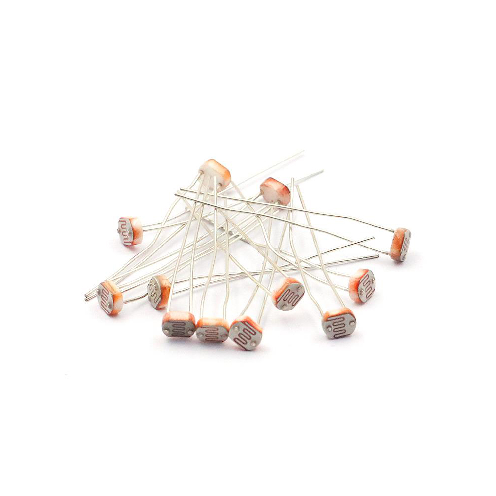 Taidacent 20 PCS 5506 5516 5528 5537 Photoresistor Photo Switch Photoelectric Sensor Detection Photo Conductive Cell 5M LDR