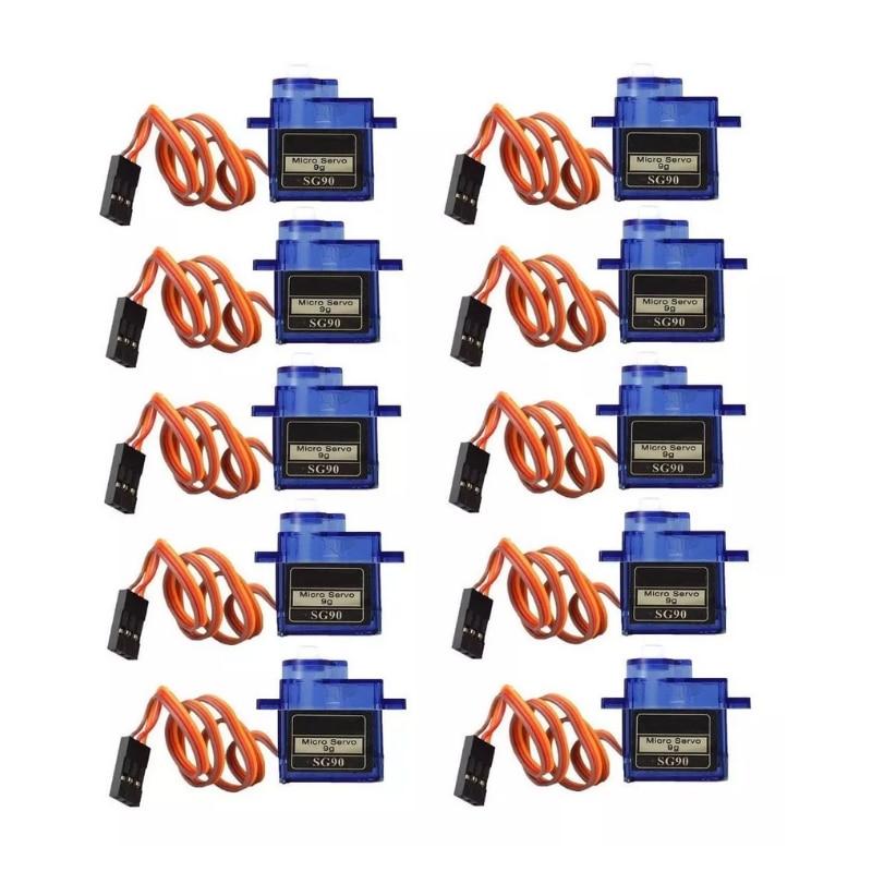 Lot 10 Motor Servo Motor SG90 Ideal Arduino Projects/Rasperri Pi/Microbit/Aeromodelling