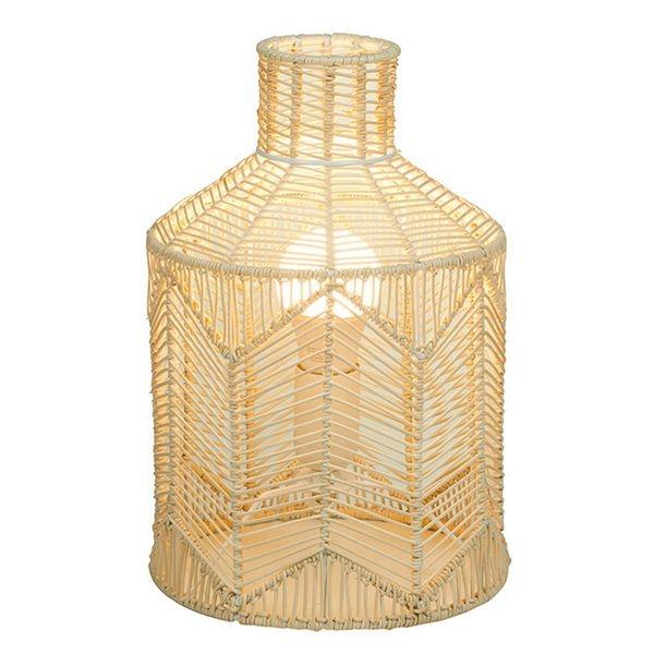 Işıklar ve Aydınlatma'ten Kolye ışıkları'de Masa lambası doğal ratan (21X21x31 cm)