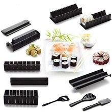 Sushi Maker 11 pièces Kit en plastique Sushi ensemble d'outils outils de cuisine/ensemble de Sushi/moule à Sushi