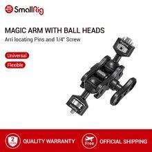 """SmallRig Braccio Magico Con Doppio Ballhead (Arri Spilli localizzazione e 1/4 """"A Vite) per Montare Smallrig Gabbia/Monitor 2115"""