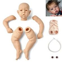 Rsg renascer bebê 28 polegadas realista recém nascido bonito liam vinil unpainted inacabado peças diy kit boneca em branco