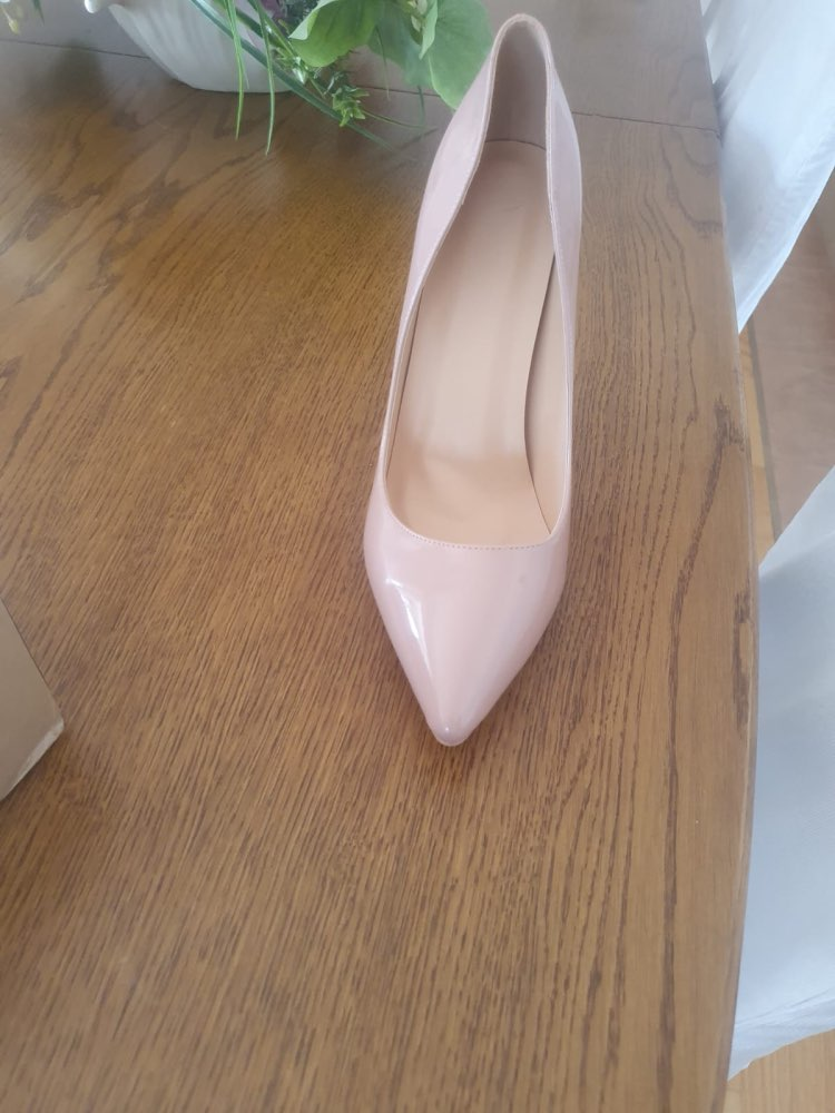 Top quality Women Pumps Pointed Toe and Thin Heels Leather Shoes Plus US Size 5~15 photo review