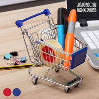 Mini Metal Shopping Trolley|Foldable Storage Bags| |  -