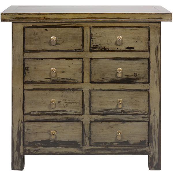 Chest Of Drawers Natural Oriental (97 X 40 X 89 Cm)