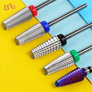 Вольфрамовая сталь 5 в 1, сверла для ногтей, карбид, сверло для ногтей, электрическая машина, резак для ногтей, инструменты для полировки, левая и правая руки