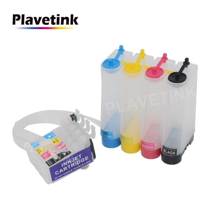 Plavetink 4 Color CISS, sistema de tinta para Epson expresión XP-101 201, 211, 401, 204, 104, 214, 411 impresora T1971 continua tanque de tinta 222-412 222-413 222-415 conector de cable compacto bloque de terminales Conductor con palanca 0,08-2.5mm2 214 218 SPL-2 3