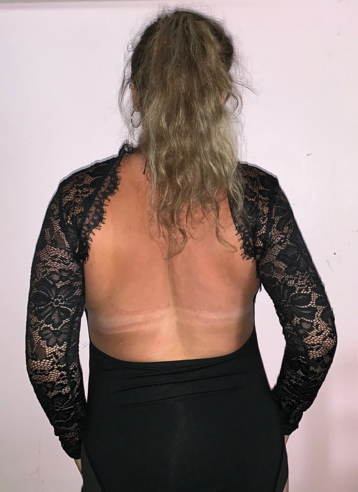 Black Eyelash Panel Backless Cut Out Sheer Skinny Sexy Lace Bodysuit Women Spring Long Sleeve Club Femme Bodysuits photo review