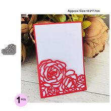 Rose Wedding Invitation Cutting Die Scrapbooking Craft Metal Cut for DIY Paper Cards Making Love Home Decorative new 2019