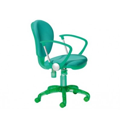CHAIR ROCADA WITH ARMS GREEN COLOR DIAMETER 610 MM BASEMAN BACKREST 490 MM X 450MM